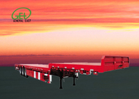 53ft Low Platform Flatbed Semi Trailer , 60T Flatbed Semi Trailer , Long Cargos Flatbed Semi Trailer
