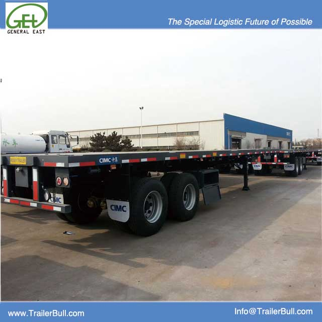 Bogie Axles Flatbed semi trailer 40ft