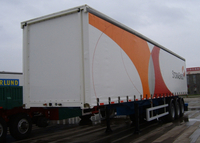 45ft Drop Side Curtain Trailer with 3 Axles for Bulk Cargos And Case Packed Cargos,Drop Side Semi Trailer