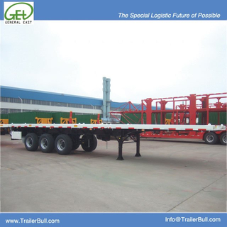 40ft Super Single Tire Flatbed Semi Trailer with Light Dead Weight