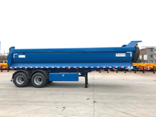 2 Axles 20cbm U type hydraulic Dump Semi-trailer for sand and rocks