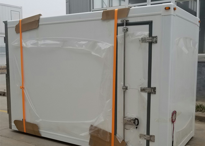 Fast Assembly PU Insulated Sandwich Composite Panel Kits And Box with GRP Profiles,Refrigerated Truck body