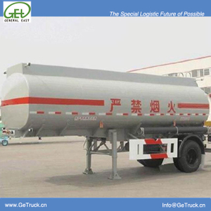 13000L Aluminum Tanker Semi-Trailer with 1 BPW axles for Organic Chemical