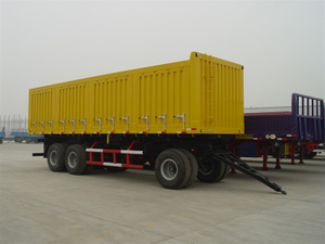 25 Feet Draw Bar Box Trailer with 3 Axles