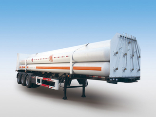 LH2 Tube Skid Semi-trailers with with 9 Tubes And 3 Axles for 21000L CNG,CNG Tube Skid Tanker