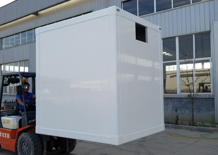 Luxury Mobile Cold Car Trailer with Fast Assembly FRP Profiles And PU Insulation