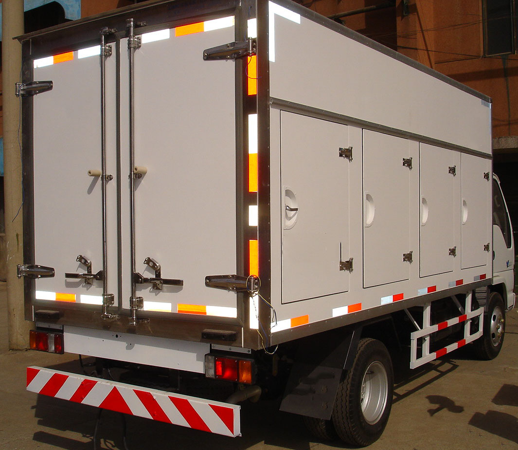 Ice Cream Truck Body-FRP+PU+FRP Composite Sandwich Panel , refrigerated truckbody