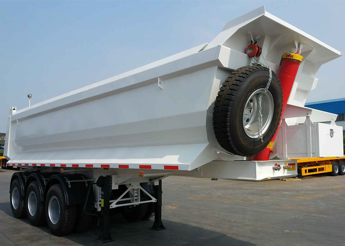 30CBM U Type Hydraulic Tipper Dump Semi Trailer with 3 Axles And Hydraulic Dumper for Mine And Construction Material, Dump Semi Trailer,Tipper