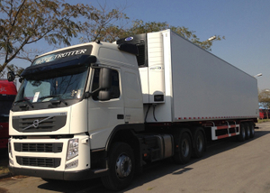 40 foot 3 axles Refrigerated GRP sandwich Truck trailer with Carrier Refrigerator units for freezing and fresh cargos