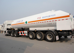 LNG Tanker Semi Trailer,51550L LNG Tanker semi trailer with 3 axles for Liquid Natural Gas