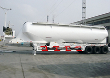 50000L Steel Powder Tanker Semi-Trailer with 3 Axles for Bulk Carbon Black Powder, Cement Tanker Semi Trailer
