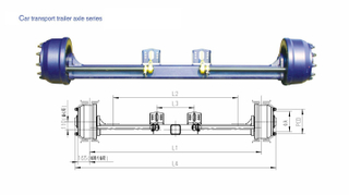 American Type Axles Car Carrier Trailer Axle