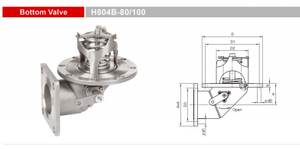 Stainless Steel Bottom Valves-Emergency Valves-GET H804B-80/100