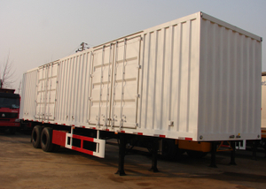 13m Roof Opened Steel Dry Freight Box Trailer with 2 Axles for Bulk Material And Mine Cargos,Drop Side Semi Trailer , Steel Box