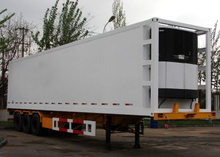 45ft 3 Axles Refrigerated GRP Sandwich Truck Trailer with Carrier Refrigerator Units for Freezing And Fresh Cargos,Refrigerator trailers