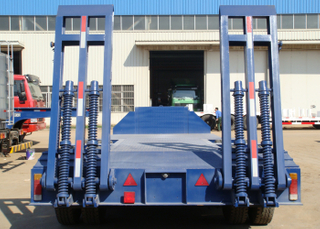 13m 50T Super lower Clearance Low Bed Semi Trailer with 2 axles and Tire Exposed,Low bed Trailer