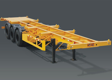 40 Foot Skeleton Semi Trailer with 3 axles for ISO container and MonoBlock Tankers