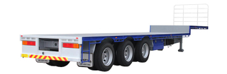 53ft Gooseneck FlatBed Semi Trailer 3 Axles,drop side semi trailer