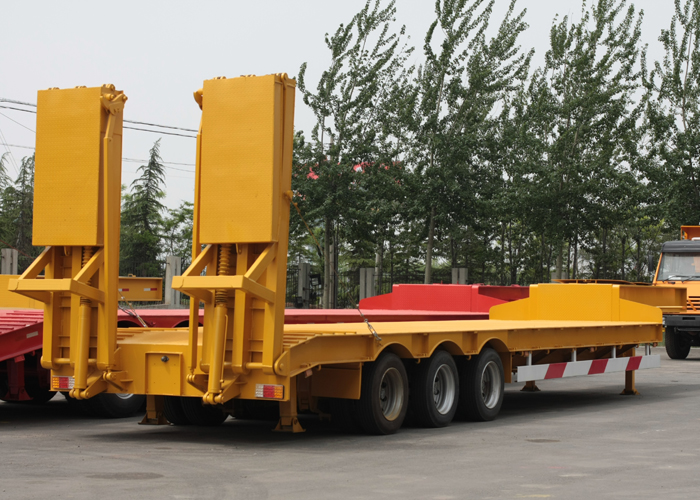 16m 60T Fixed Gooseneck ( FGN ) Low Bed Semi Trailer with 3 Axles for Heavy Machine,Low Bed Trailer