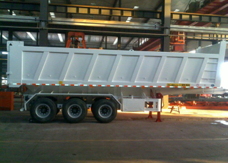34cbm Dump Semi Trailer with 3 BPW Axles And Hydraulic Dumper for Mine And Construction Materiall, Dump Semi Trailer,Tipper