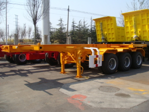 Heavy Container Worker_20 Foot Container Skeleton Semi Trailer 3 Axles