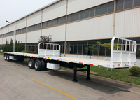60ft B Double Interlink FlatBed Semi Trailer for Container And Tank Freight