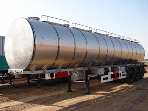 30000L Stainless Steel Tanker Semi-Trailer with 3 BPW Alxes for Grape Wine And Milk