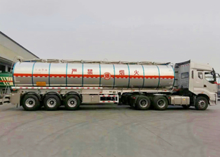 40000L Insulated Aluminum Tanker Semi Trailer with 3 BPW Axles for Organic Chemical of Dibutyl Ether