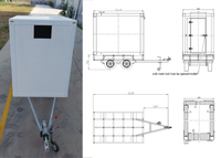 MOBILE FREEZER COLD ROOM TRAILER with FRP+PU+FRP Composite sandwich panel,Cold Room