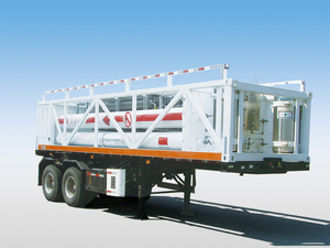 CH2 Tube Skid Semi-trailers with 7 Tubes And 2 Axles for 4000L CNG,CNG Tube Skid Tanker